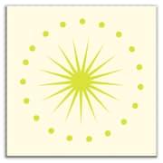 Oscar & Izzy Folksy Love 6'' x 6'' Satin Decorative Tile in June Light Yellow Green
