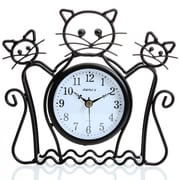 Maples Clock Silhouette Cat Table Clock