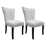 Sole Designs Bella Side Chair (Set of 2); Grape