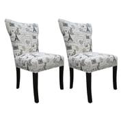 Sole Designs Bella Side Chair (Set of 2); Onyx