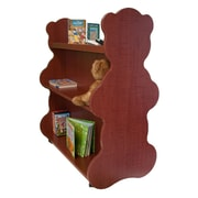 Ace Baby Furniture Bear Mobile Double Sided 41.5'' Bookcase; Cherry