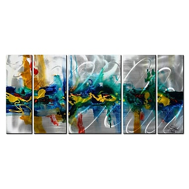 All My Walls 'Another Place In Time' by Skye Taylor 5 Piece Graphic Art Plaque Set