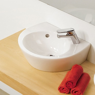 Bissonnet Universal Pop 36 Porcelain Bathroom Sink w/ Overflow