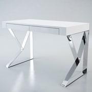Modloft Writing Desk; White Lacquer