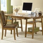 Hillsdale Parkglen Computer Desk and Chair Set; Medium Oak