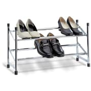OIA 2 Tier Expandable Shoe Rack; Chrome