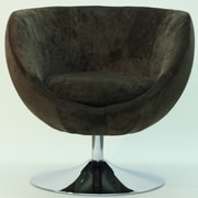 Fox Hill Trading Overman Disc Base Globus Chair; Brown