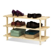 Furinno Pine Solid Wood 3 Tier Shoe Rack