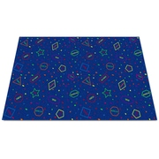 Kid Carpet I Know My Shapes Blue Area Rug; 8' x 12'