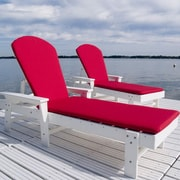 POLYWOOD  Shell Back Chaise Lounge ; White