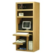 Rush Furniture Charles Harris Computer Desk with Armoire; Honey