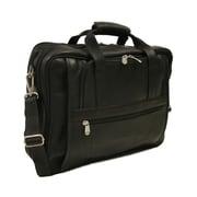 Piel Entrepreneur Ultra Compact Leather Laptop Briefcase; Black