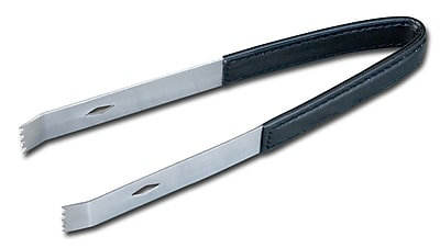 Dacasso 1000 Series Classic Leather Ice Tongs in Black WYF078275402469