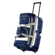 Olympia Eight Pocket 26'' Rolling Duffel; Navy