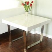 Pangea Home Liana End Table; White