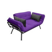 Elite Products Mali Flex Futon and Mattress; Purple, Polka Dot