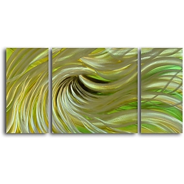 My Art Outlet 'Blond Waves' 3 Piece Graphic Art Plaque Set