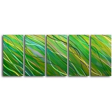 My Art Outlet 'Forest in the Sea' 5 Piece Graphic Art Plaque Set