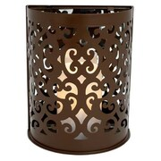 Flipo Pacific Accents Montrose Indoor/Outdoor Scroll Sconce; Brown