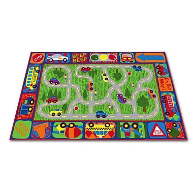 Kid Carpet Driving Road Area Rug; 6' x 8'6''