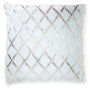 Debage Inc. Bling Crystal Diamond Throw Pillow; White