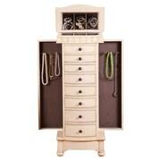 Wildon Home   Murphy Jewelry Armoire with Mirror; Cream