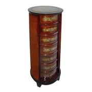 Cheungs Wooden Tall Round 7 Drawer Chest with Ring Handles