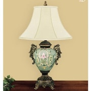 JB Hirsch Water Garden 29'' H Table Lamp with Bell Shade