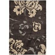 Safavieh Florida Shag Dark Brown Area Rug; 8' x 10'