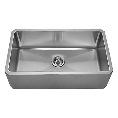 Whitehaus Collection Noah's 31.63'' x 18.13'' Front - Apron Single Bowl Undermount Kitchen Sink