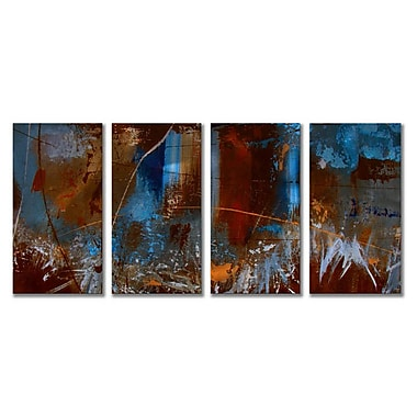 All My Walls 'Urban Feel' by Ruth Palmer 4 Piece Painting Print Plaque Set