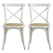 angelo:HOME Cadwell Side Chair (Set of 2); Antique Cr me White Distressed