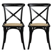 angelo:HOME Cadwell Side Chair (Set of 2); Antique Black Distressed