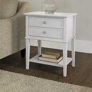 Altra Franklin End Table; White