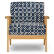 Wholesale Interiors Baxton Studio Francis Retro Mid Century Fabric Arm Chair; Navy Blue