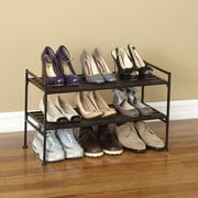 Seville Classics 2 Tier Resin Slatted Shoe Rack