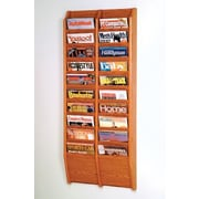 Wooden Mallet 20 Pocket Wall Mount Magazine Rack; Medium Oak