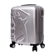 Seville Classics PGA Tour 20'' Hardside Spinner Suitecase; Silver