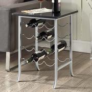 Carolina Cottage End Table; Black / Silver