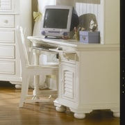 American Woodcrafters Cottage Traditions Computer Desk with Keyboard Tray; Eggshell White