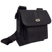 AmeriLeather Gorgeous Leather Antony Messenger Bag; Black