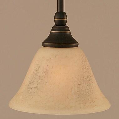 Toltec Lighting Stem Mini Pendant w/ Hang Straight Swivel; Dark Granite
