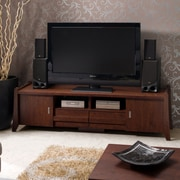 Hokku Designs Hanson TV Stand; Vintage Walnut