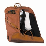 Royce Leather Royce Leather Garment Suit Travel Bag Luggage in Milano Genuine Leather; Tan