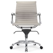 Meelano Leather Executive Office Chair; Grey