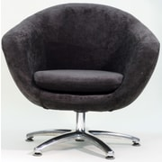 Fox Hill Trading Overman Five Prong Base Comet Chair; Dark Gray