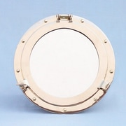 Handcrafted Nautical Decor Porthole Mirror; 14'' H x 14'' W x 3'' D