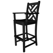 POLYWOOD  Chippendale 30'' Bar Stool; Black