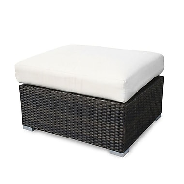 Source Outdoor Lucaya Ottoman w/ Cushion; Off-White