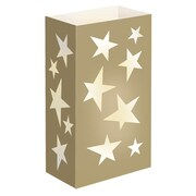 Luminarias Gold Star Flame Resistant Luminarie Bags (Set of 12)